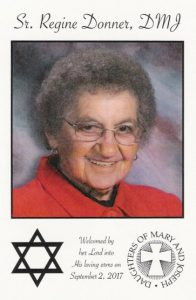 In Loving memory of Sr. Regine Donner